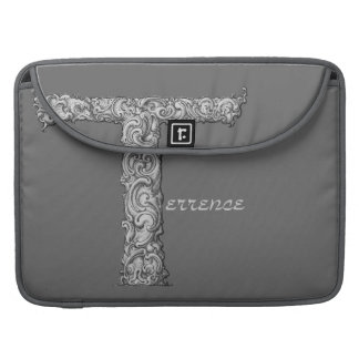 T - The Falck Alphabet (Silvery) Sleeves For MacBook Pro