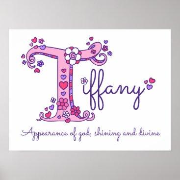 McTiffany Tiffany Aqua T Tiffany initial doodle art name meaning Poster