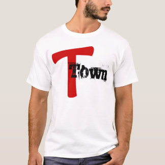 T-Town T names RED MARK DESIGN T-Shirt NICKNAME