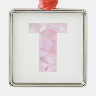 T - Triángulos polivinílicos bajos - gris púrpura Adorno Navideño Cuadrado De Metal