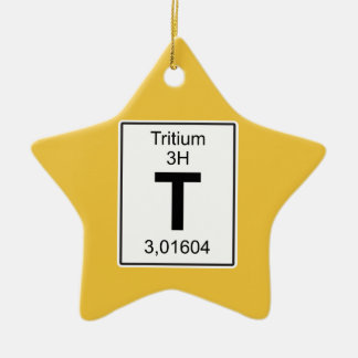 T - Tritium Ceramic Ornament