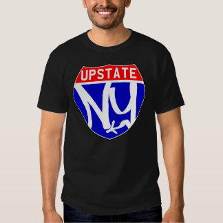 T Upstate negro Remeras