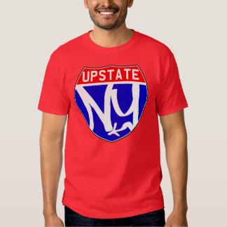 T Upstate rojo Camisas