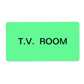 T.V. Room Packing & Moving Label