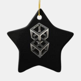 T w o C u b e s Ceramic Ornament