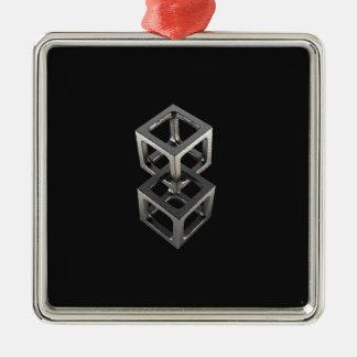 T w o C u b e s Metal Ornament