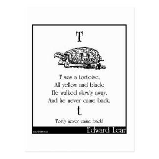 T was a tortoise postcard