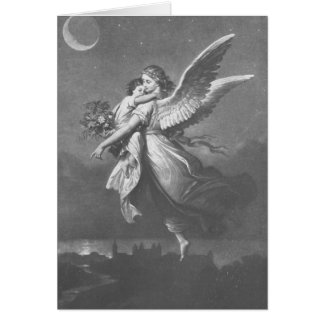 """""""'T was an angel visted the green earth."""" Greeting Card"""