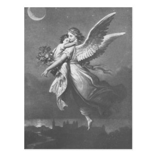 """""""'T was an angel visted the green earth."""" Postcard"""