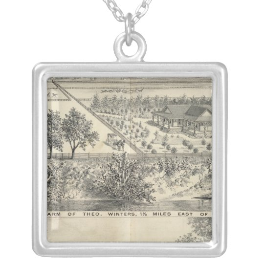 T Winters farm Silver Plated Necklace