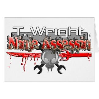 T. Wright Ninja Assassin Zx14 Greeting Cards