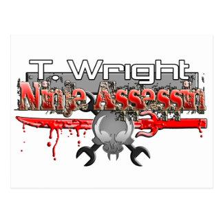 T. Wright Ninja Assassin Zx14 Postcard