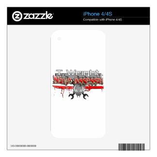 T. Wright Ninja Assassin Zx14 Decal For The iPhone 4S