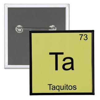 TA - Camiseta divertida del símbolo del elemento d Pin Cuadrado