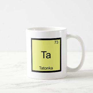 TA - Camiseta divertida del símbolo del elemento d Taza