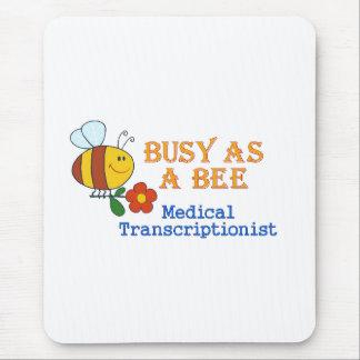 TA de la abeja ocupada Alfombrilla De Ratón