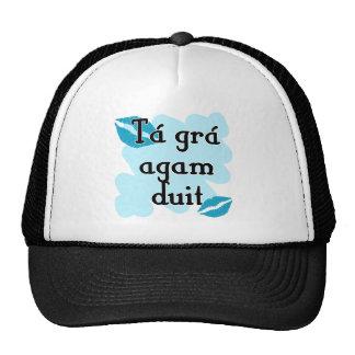 Tá grá agam duit - Irish Gaelic I love Trucker Hats