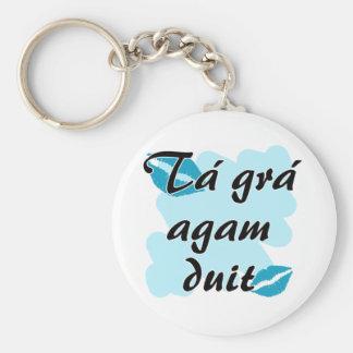 Tá grá agam duit - Irish Gaelic I love Key Chain