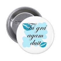 Tá grá agam duit - Irish Gaelic I love Pin