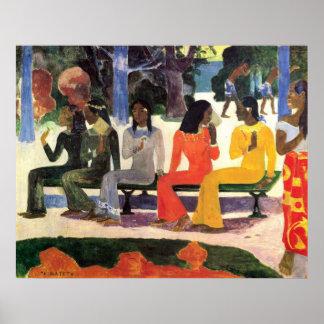TA Matete de Eugène Enrique Paul Gauguin Póster