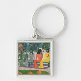 Ta Matete Silver-Colored Square Keychain