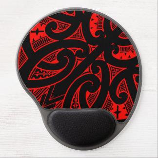 Ta Moko traditional Maori tattoo design koru shape Gel Mouse Pad