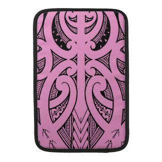 Ta Moko traditional Maori tattoo design koru shape Sleeve For MacBook Air