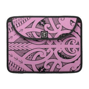 116377b79 Ta Moko traditional Maori tattoo design koru shape Sleeve For MacBooks