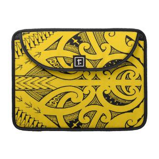Ta Moko traditional Maori tattoo design koru shape Sleeves For MacBook Pro