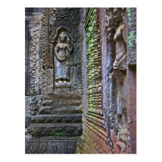 Ta Prohm Temple, Siem Reap Province, Cambodia 2 Postcard