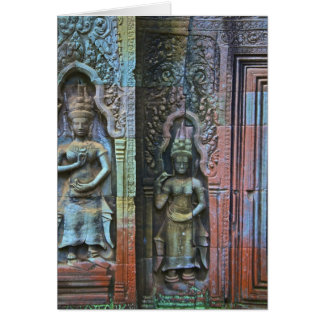 Ta Prohm Temple, Siem Reap Province, Cambodia Greeting Cards