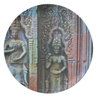 Ta Prohm Temple, Siem Reap Province, Cambodia Party Plate