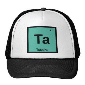 TA - Símbolo de la tabla periódica de la química Gorro