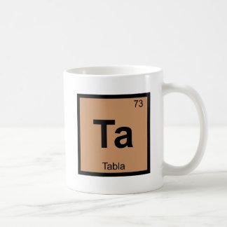 Ta - Tabla Music Chemistry Periodic Table Symbol Classic White Coffee Mug