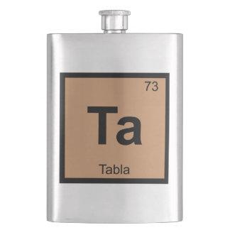 Ta - Tabla Music Chemistry Periodic Table Symbol Hip Flask