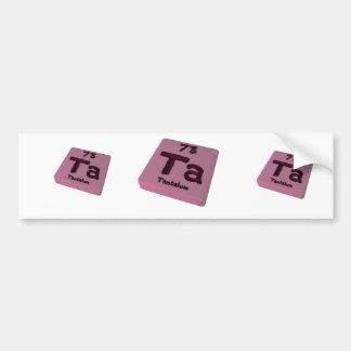 Ta Tantalum Bumper Stickers