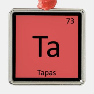 Ta - Tapas Appetizer Chemistry Periodic Table Christmas Tree Ornaments