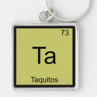 Ta - Taquitos Funny Chemistry Element Symbol Tee Key Chain