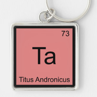 Ta - Titus Andronicus Chemistry Element Symbol Tee Key Chain