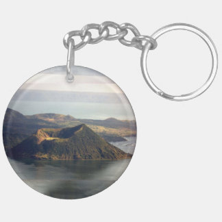 Taal volcano Lake, Circle (double-sided) KeyChain