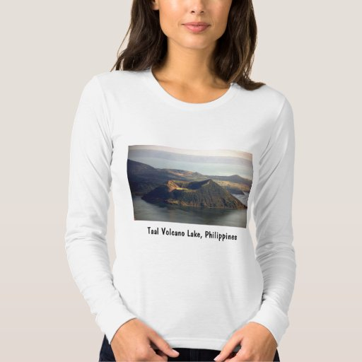 Taal Volcano Lake, Fine Jersey Long Sleeve T-Shirt