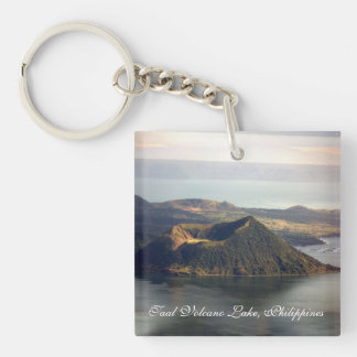 Taal Volcano Lake Square (double-sided) Key Chain