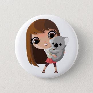 Taara and Pudding the Koala Button
