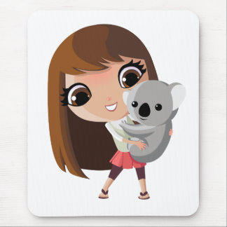 Taara and Pudding the Koala Mouse Pad
