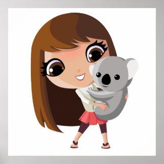 Taara and Pudding the Koala Poster