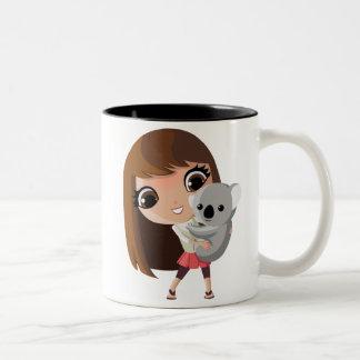Taara and Pudding the Koala Two-Tone Coffee Mug