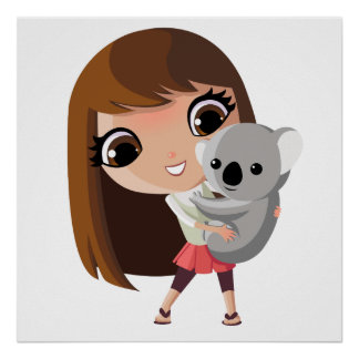 Taara y pudín la koala posters