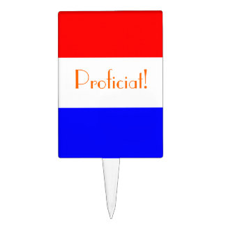 Taart-/Caketopper resolvió el rood~wit~blauw Figuras Para Tartas