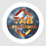 Tab Creations Logo Round Stickers