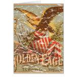 Tabaco 1900 de Eagle de oro - apenado Felicitación